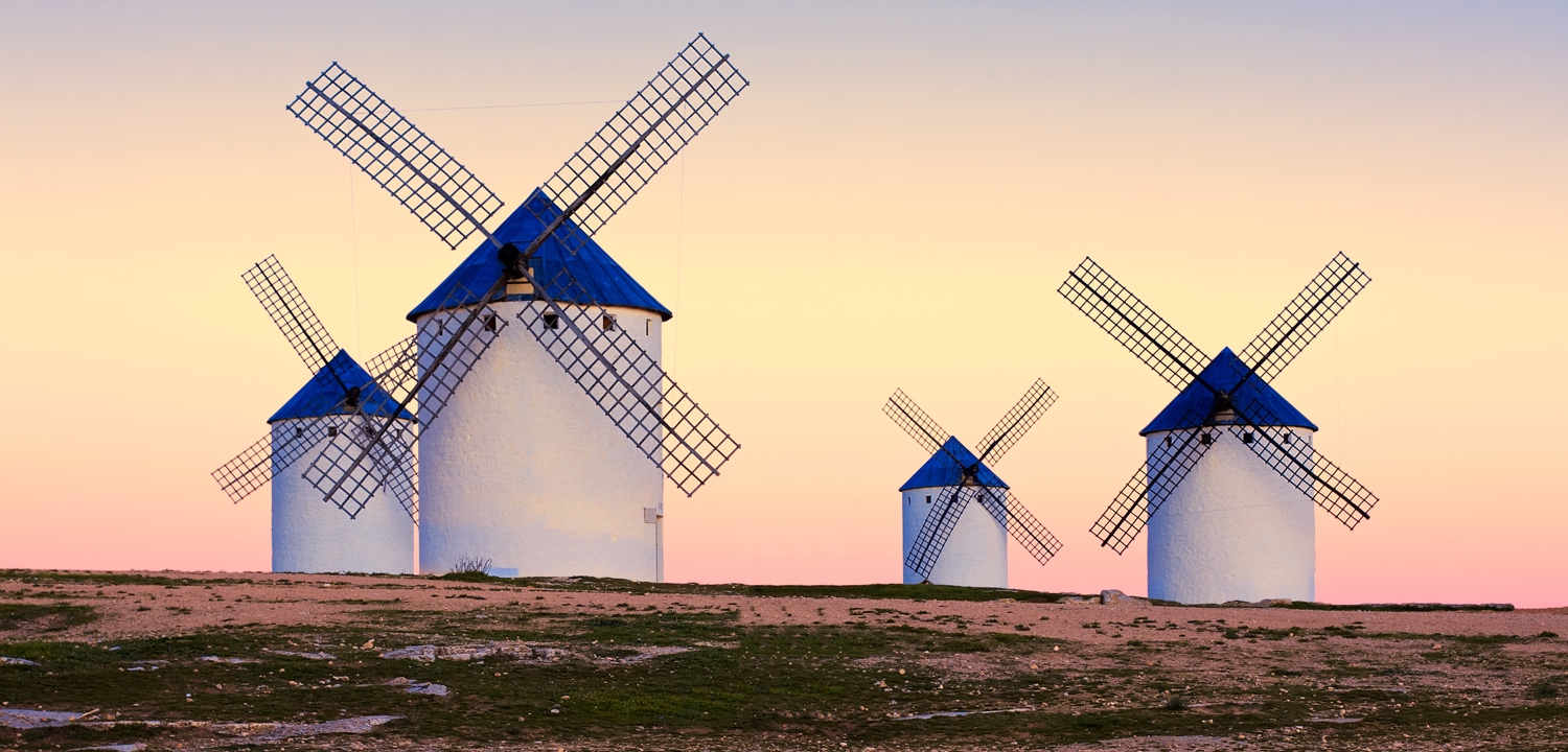 windmill in Campo de Criptana, La Mancha, Spain