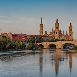 View of Basilica Pillar in Zaragoza , Aragon, Spain.