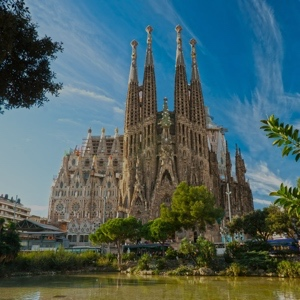 weekend BARCELONA, SPAIN - La Sagrada Familia - the impressive cathedral designed by Gaudi, which is being build since 19 March 1882 and is not finished yet in Barcelona, Spain.