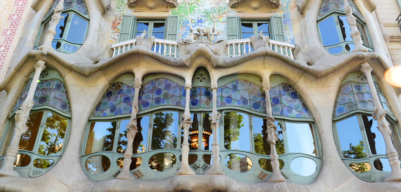 weekend Barcelona - Casa Batllo by Antoni Gaudi, Barcelona, Catalonia, Spain