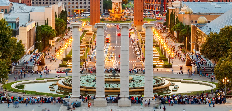 weekend Barcelona - Magic Fountain in Barcelona.